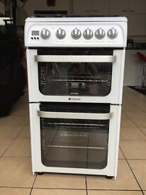 Hotpoint 50cm double oven gas cooker: As new!