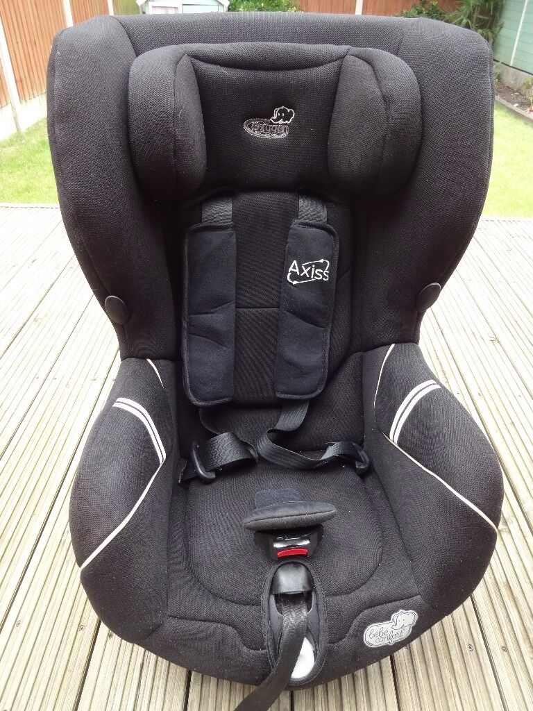 Bebe Confort Axiss Swivel Car Seat Exc Cond Black Adjustable Headrest Reclining