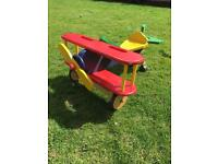 Wooden ride on plane, outdoor toy