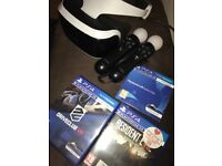 PS4 vr with games for sale