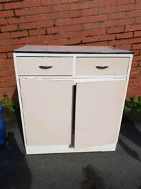 1960's vintage kitchen unit with fold out table