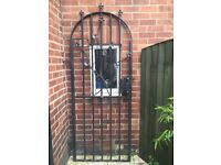 Selling iron arch top side garden gate