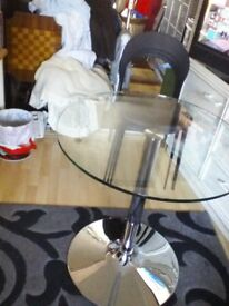 Glass table 3 chairs new