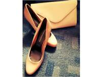 nude shoes 6.5 size with free bag