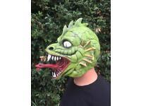 FX Studios Halloween Full Head Latex Lizard Mask New With Tags RRP £29.99