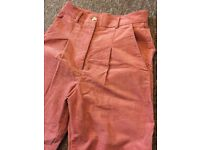 Women's Rose Pink Corduroy Trousers - Size Small - Urban Outfitters