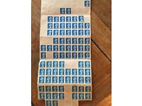 82 second class stamps