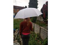 Extra large white umbrella - ideal for weddings or golf! NEW