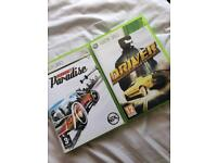 Xbox 360 burnout paradise and driver San Francisco