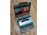Vintage Fully Working Olivetti Lettera 32 Typewriter in Original Case
