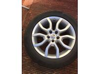 """17"""" Volvo 5 Stud Alloy wheels fitted with 4 x Continental 225/50/R17 Tyres"""