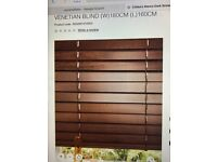 2 brown Venetian wooden blinds w180cm L160cm excellent condition, all so I'll throw in a small one