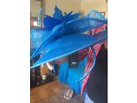 Blue wedding designer fascinator brand new with tags