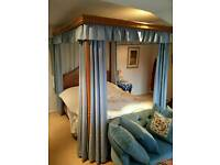 Hand made king size four poster bed 4