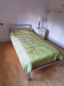 designer italian bed with mattress