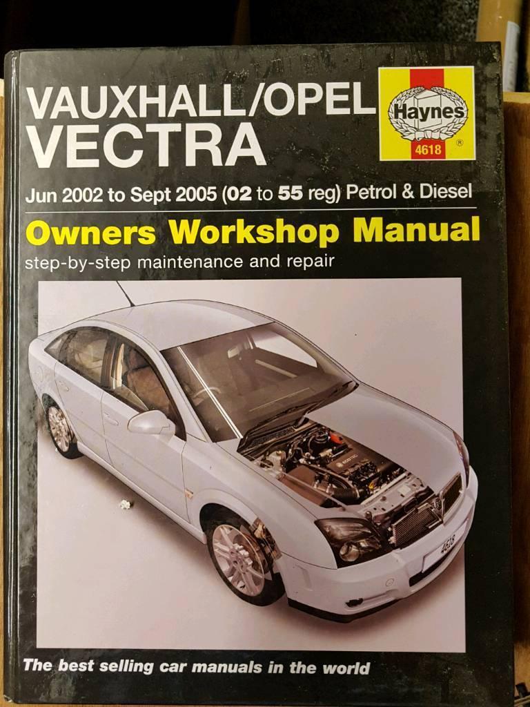 Haynes manual Vauxhall Vectra 02-55