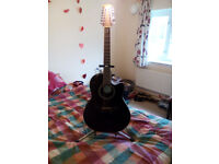 Ovation Applause-AB2412-5, 12 string Electro/Acoustic Guitar, and Stand.