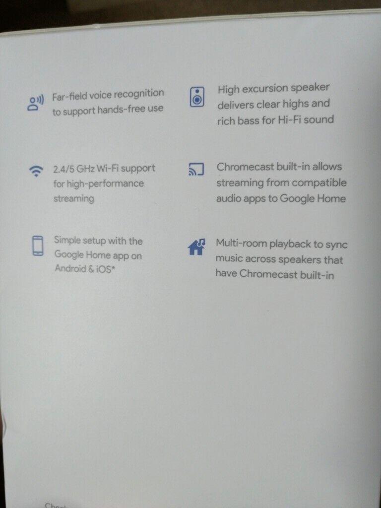 Google Home smart speaker (boxed and unopened)   in Livingston, West  Lothian   Gumtree