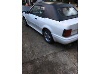 Ford escort 1.6i cabriolet 1985 classic needs restoration spares or repair