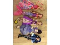 Five mixed dolls