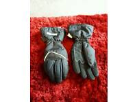Ladies scotchlite motorbike gloves