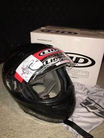 Black LID Motorcycle Helmet - new in box