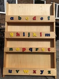Tidybooks kids bookcase in natural wood