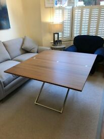 Bo Concept Rubi adjustable table for sale in walnut veneer (RRP £1439).