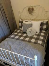 LEIRVIK ikea double bed + mattress
