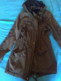 Womens green jacket size 10-14 UK