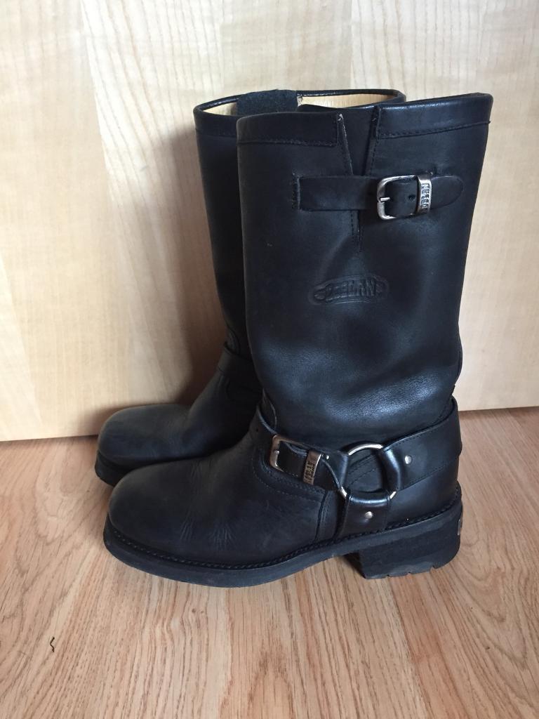 d062d30f37e Loblan 501 black biker boots. Size 8 Uk, 42 Europe. | in Exeter, Devon |  Gumtree