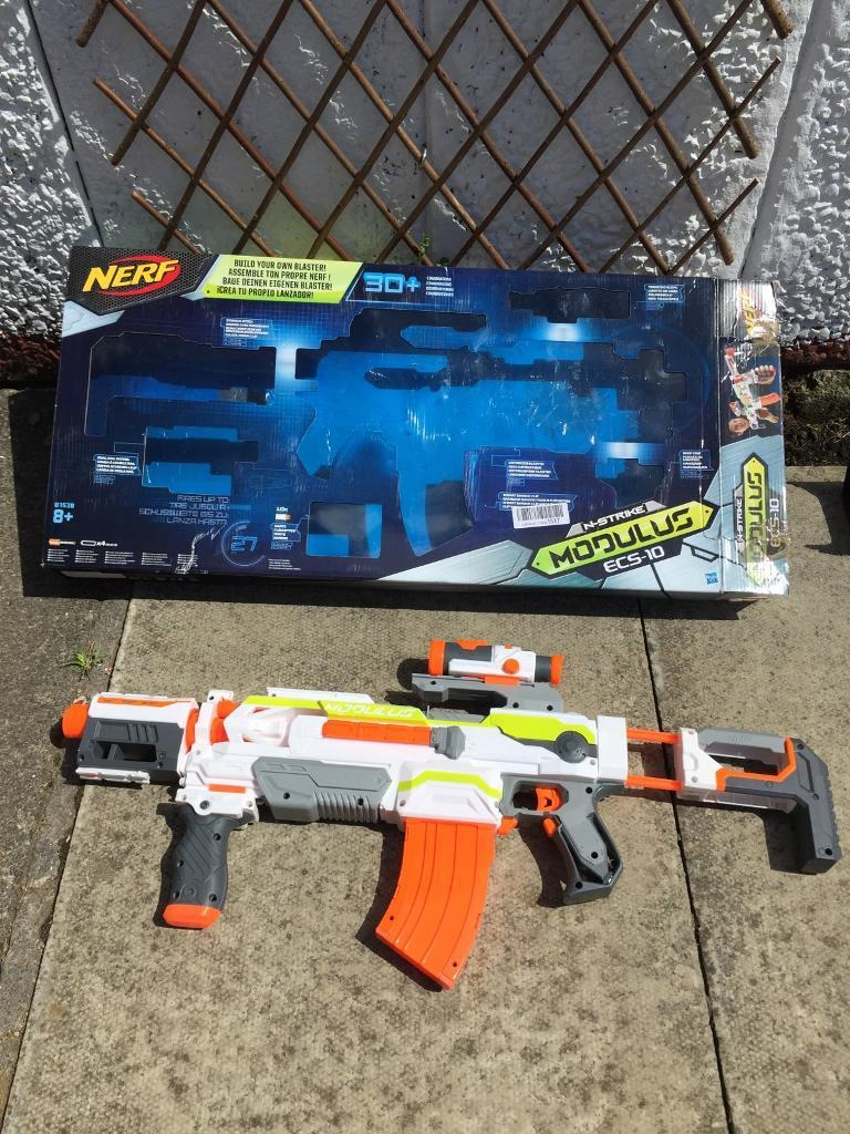 Nerf Modulus ECS 10in Motherwell, North LanarkshireGumtree - Hardly used and just taking up space. Works perfect with 4 aa batteries