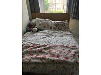 MALM DOUBLE BED FRAME: LIKE NEW