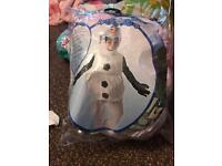 Olaf costume 5-6 years new
