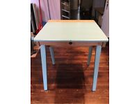 Vintage school desk, flip-top, solid wood