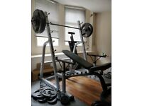 Gym Squat Rack Olympic Barbell with weights