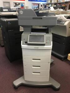 Lexmark Laser Printer Copier Scanner XS654DE 654de B&W Copy Print COLOR SCAN FAX