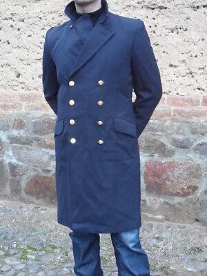 BW Bundeswehr Marine Mantel Militär Military dunkelblau Fasching Kostüm Gr.M