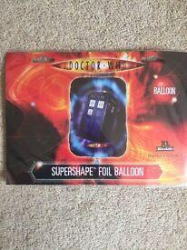 Dr Who Tardis Helium Foil Balloon