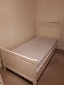 SINGLE BED IN WHITE - GOOD CONDITION