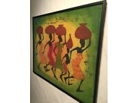 COLOURFUL FRAMED PICTURE