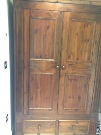 Double wardrobe and two drawers