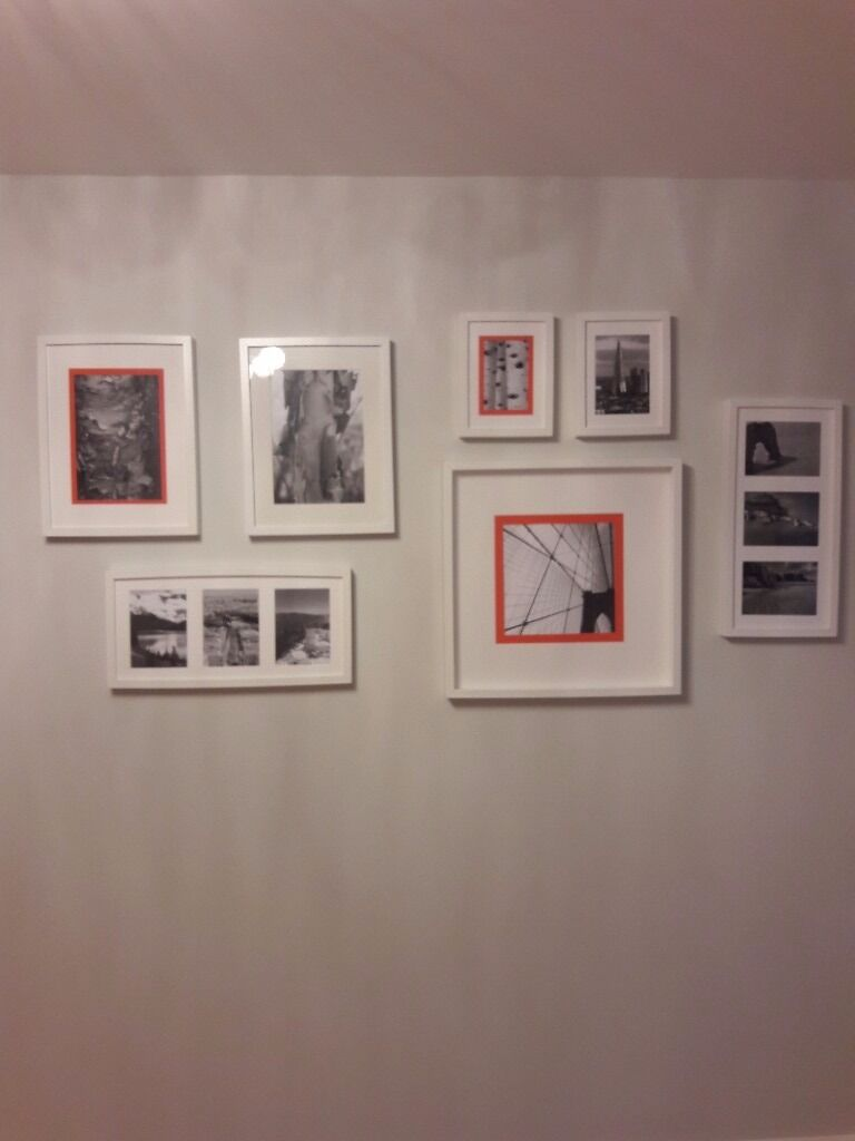 Set of 7 pictures in white framesin Yaxley, CambridgeshireGumtree - Set of 7 pictures in white frames and all different sizes. Excellent condition and has come from an ex show home