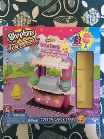 Shopkins Kinstructions Cotton Candy Stand in original box, with instructions