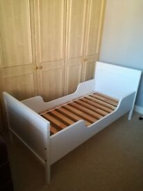 White IKEA toddler bed - as new
