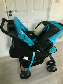 3 in 1 Push chair buggy + car seat + Cot plus free Bottle Sterilizer and warmer..!!
