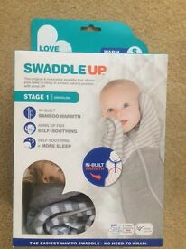 Brand new Swaddle Up newborn swaddle bag grey