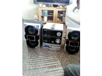 sharp stero with to sony speakers and remot
