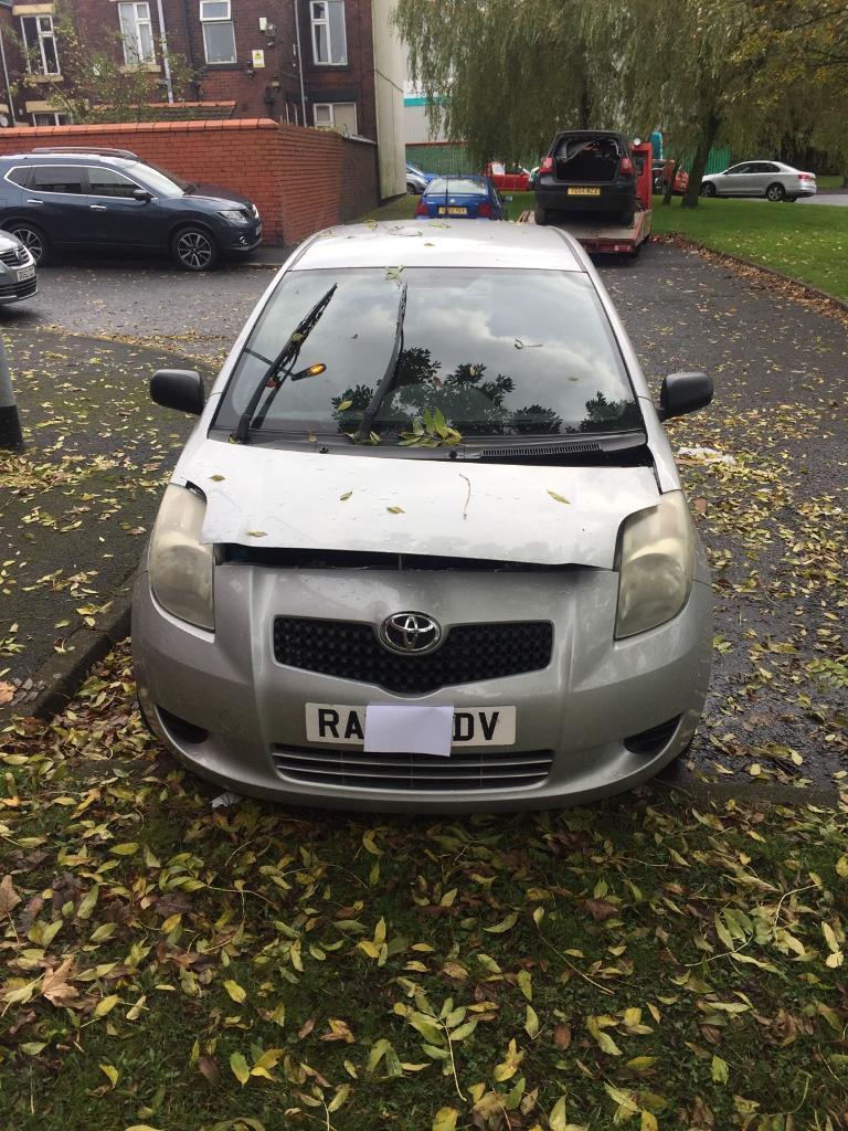 2007 Toyota Yaris silver breaking spares repairs