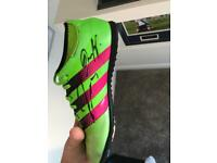 Signed boot by zabaleta and slaven Bilic